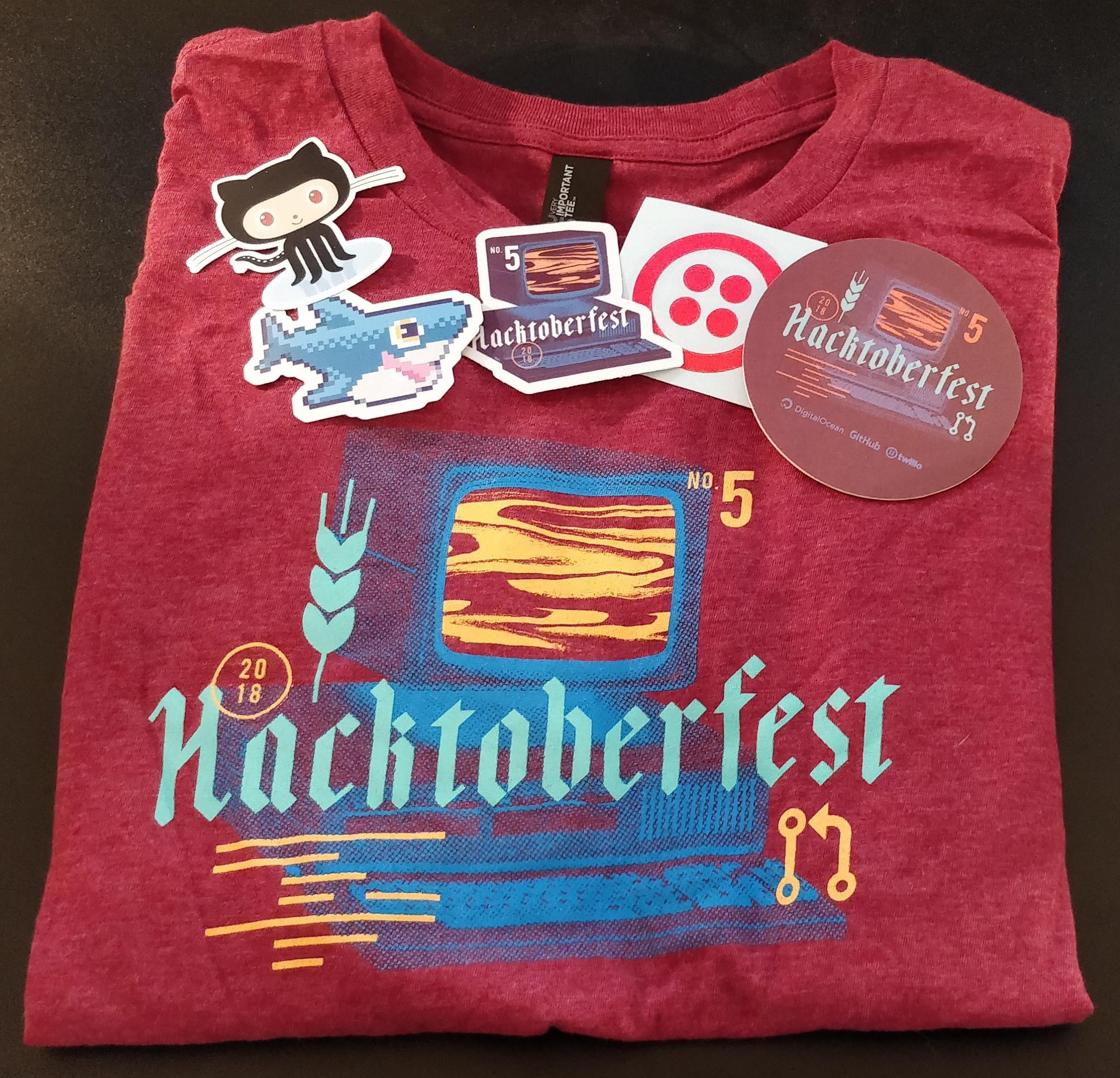 Hacktoberfest 2018 t-shirt and stickers